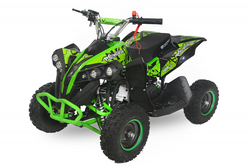 Nitro Motors Avenger 49cc Basic E-Start 6 Zoll LED Miniquad Atv Kinderquad