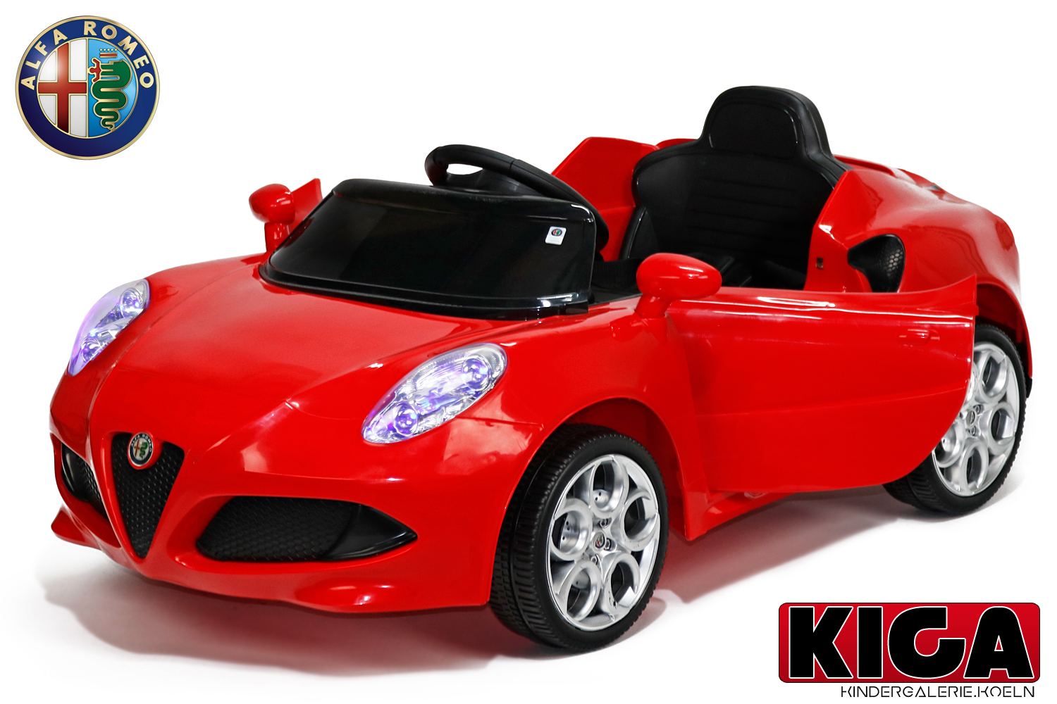 kidcars kinder elektroautos mit akku lizenz kinder elektro auto alfa romeo 8c 2x 15w 2x6v 12v. Black Bedroom Furniture Sets. Home Design Ideas