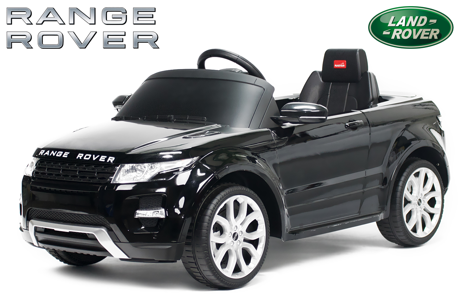kidcars kinder elektroautos mit akku lizenz kinder elektro auto land rover evoque 2x 25w 12v. Black Bedroom Furniture Sets. Home Design Ideas